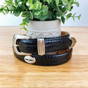 Raymond Floyd Black leather Belt